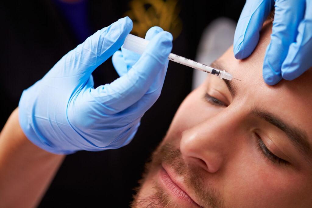 Man receiving botox® treatment.